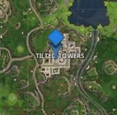 Marqueur sur Tilted Towers Fortnite - Ma vie de Bambi